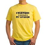 My Opinion Yellow T-Shirt