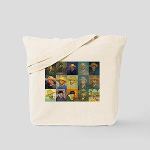 van Gogh Self Portraits Montage Tote Bag