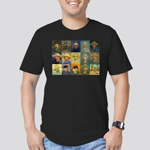 van Gogh Self Portraits Montage Men's Fitted T-Shi