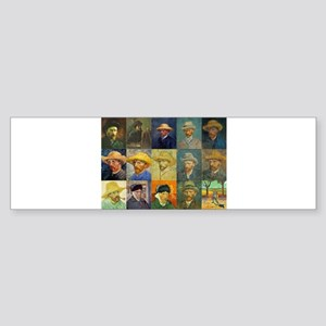 van Gogh Self Portraits Montage Bumper Sticker