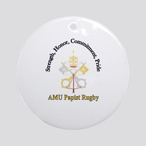 Papist Rugby Ornament (Round)