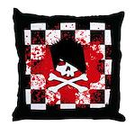 Emo Skull Throw Pillow