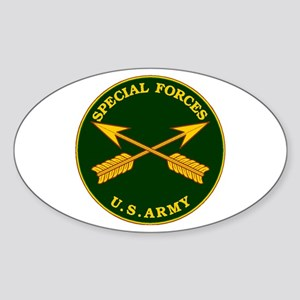 Special Forces Branch Plaque Oval Sticker