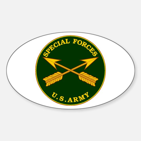 Special Forces Branch Plaque Oval Decal