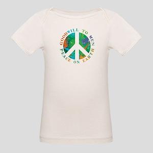 Peace on Earth Organic Baby T-Shirt