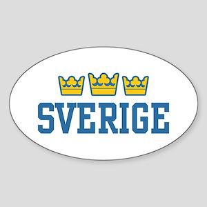 Sverige Oval Sticker