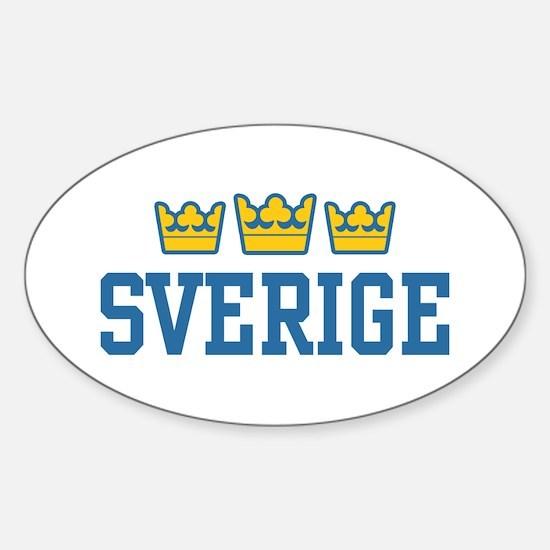 Sverige Oval Stickers