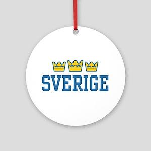Sverige Ornament (Round)
