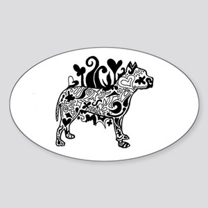 Tattoo Pit Oval Sticker