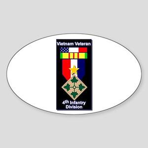 4th Infantry Division Veteran Oval Sticker
