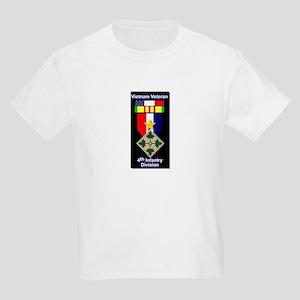 4th Infantry Division Veteran Kids Light T-Shirt