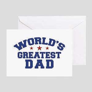 Worlds best dad greeting cards cafepress worlds greatest dad greeting cards pk of 10 m4hsunfo