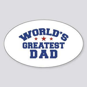 World's Greatest Dad Oval Sticker