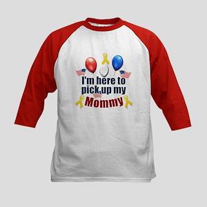 Pick up my Mommy Kids Baseball Jersey
