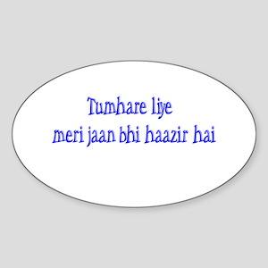 Jaan Haazir Oval Sticker