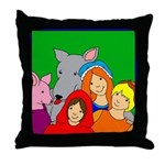 Smiling Friends Throw Pillow