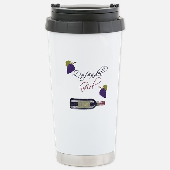 Zinfandel Girl Stainless Steel Travel Mug