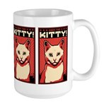 WHITE CAT - Obey the Kitty! Large Mug