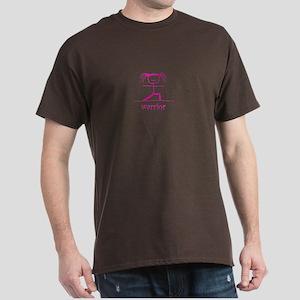 Warrior (Pink): Dark T-Shirt