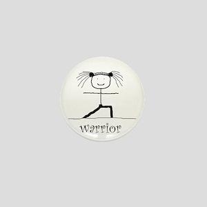 Warrior Yoga pose: Mini Button