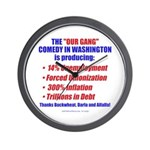 Our Gang in DC Wall Clock