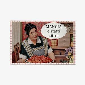 Mangia Fridge Rectangle Magnet