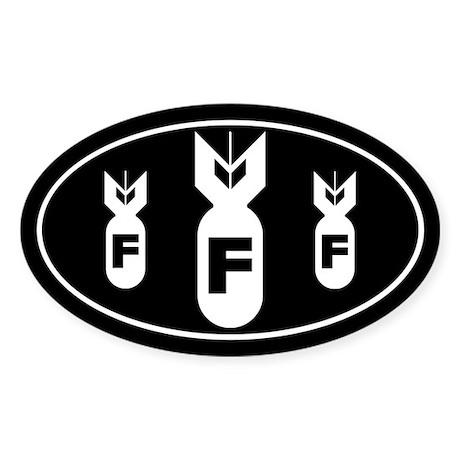 F Bomb Sticker (Oval)