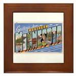 Greetings from Northern Minnesota Framed Tile
