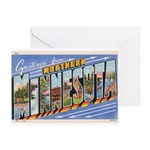 Greetings from Northern Minnesota Greeting Card