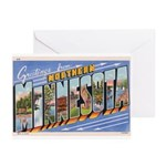 Greetings from Northern Minnesota Greeting Cards (