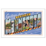 Greetings from Northern Minnesota Large Poster
