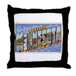 Greetings from Northern Minnesota Throw Pillow