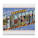 Greetings from Northern Minnesota Tile Coaster