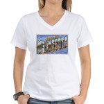 Greetings from Northern Minnesota Women's V-Neck T