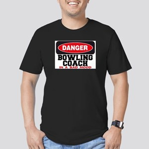 Bowling Coach in Bad Mood Men's Fitted T-Shirt (da