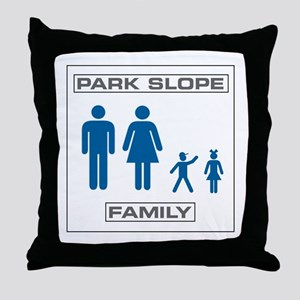 Park Slope Mommy and Daddy Throw Pillow