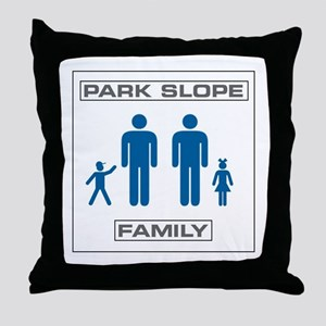 Park Slope Two Daddies Throw Pillow