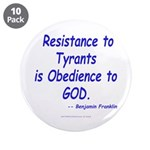"""Resistance 3.5"""" Button (10 pack)"""