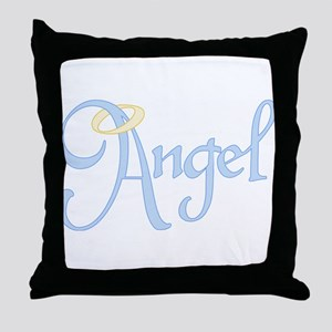Angel Text Throw Pillow