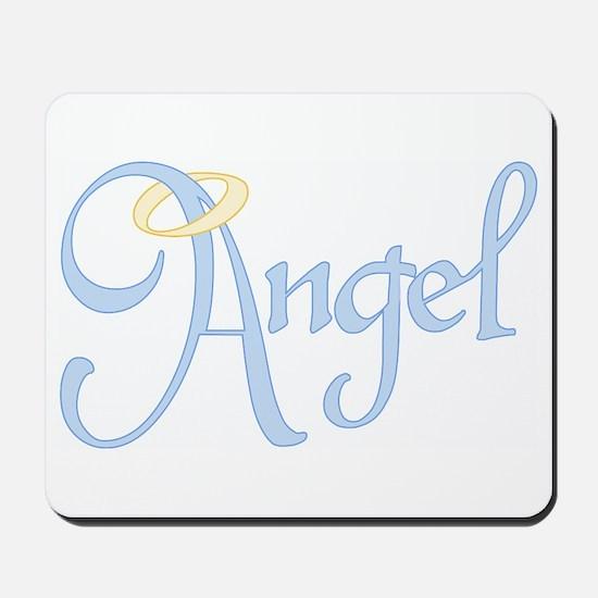 Angel Text Mousepad