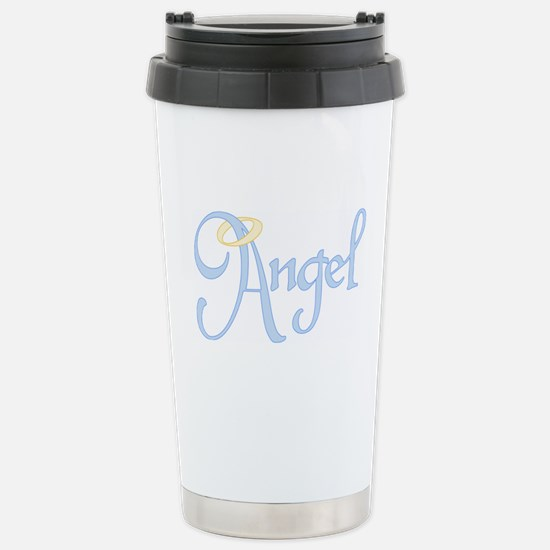 Angel Text Stainless Steel Travel Mug