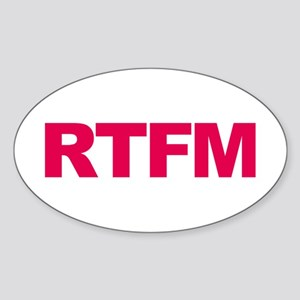 RTFM Sticker (Oval)