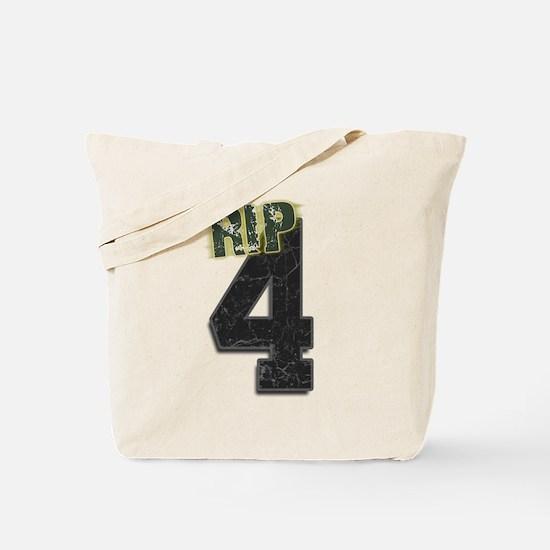 #4 Brett Favre Funeral RIP Tote Bag
