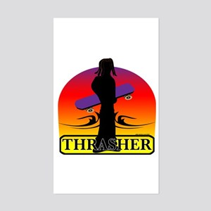 THRASHER Rectangle Sticker