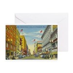 1940's Minneapolis Nicollet Avenue Greeting Cards