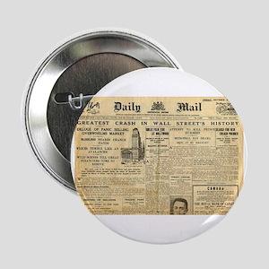 "Wall Street Crash, 1929 Version 2.25"" Button"