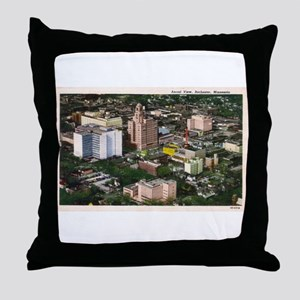 Rochester Aerial View Throw Pillow