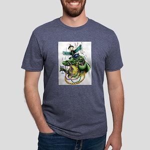 Mardi Gras Gator Ash Grey T-Shirt