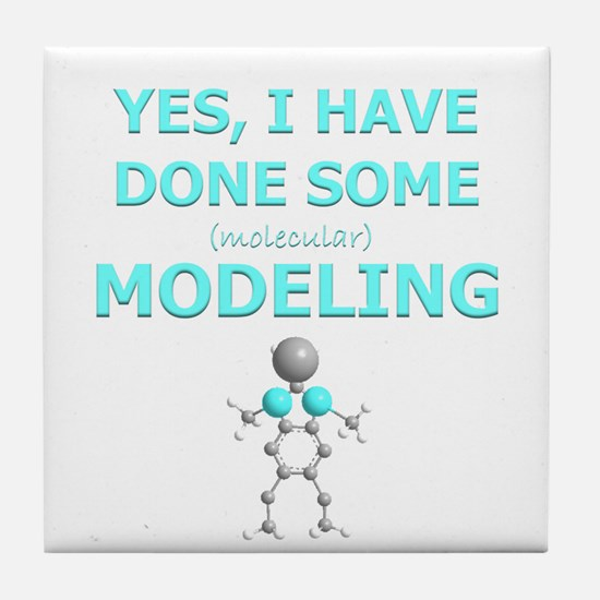Cute Molecule Tile Coaster
