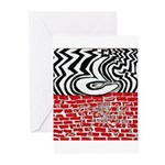 A Question Destroying a Wall Greeting Cards (Pk of